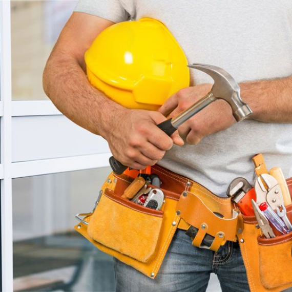 handy man with tool belt