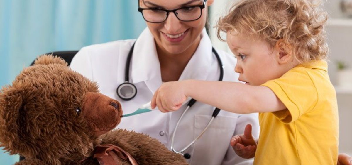 doctor working with child, choosing the right healthcare services to meet your needs