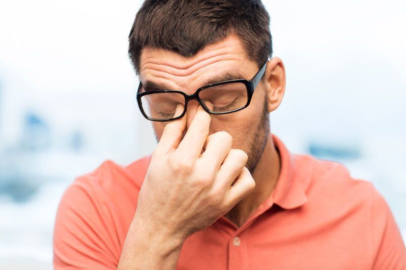man looking stressed, reducing home healthcare stress