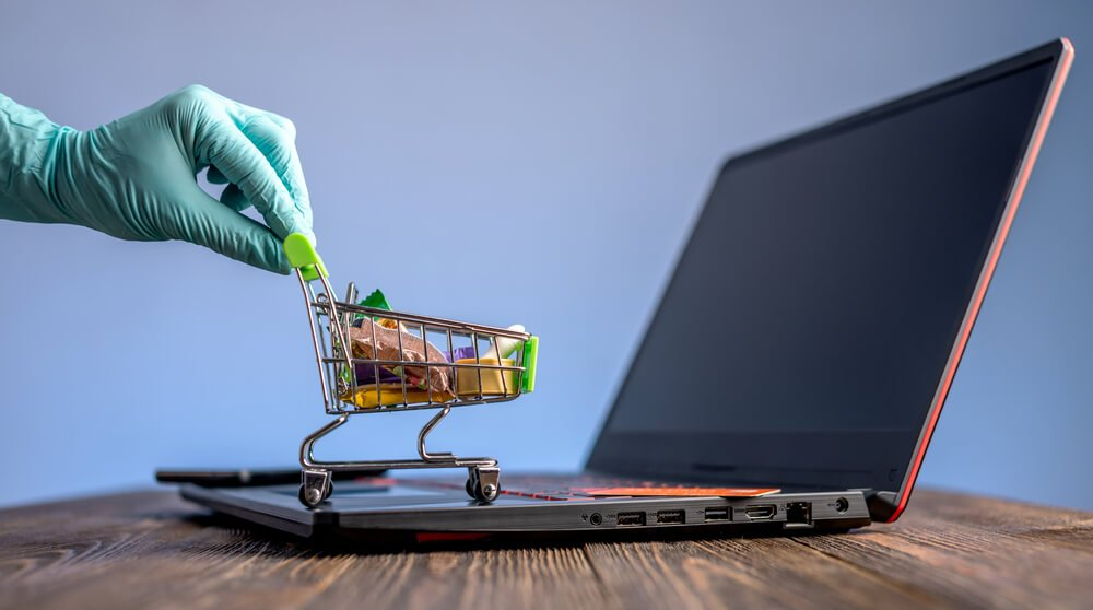 Online sales during COVID